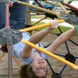 Jungle Gym Girl - Stock Photo
