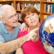 Adult Students with Globe — Stock Photo #7321873