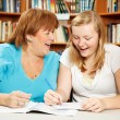 Studying with Mom — Stock Photo