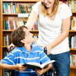 Teenage Girl and Disabled Boy — Stock Photo