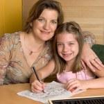 Doing Homework Together — Stock Photo