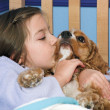 Puppy Kisses - Stock Photo