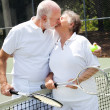 Love on the Tennis Court - Stock Photo