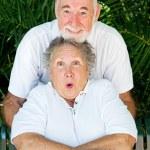 Playful Couple - Tickling — Stock Photo
