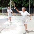 Stock Photo: Retirees Playing Racquetball