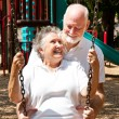 Senior Couple at Play — Stock Photo