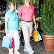 Shopping Seniors - Strolling - Stock Photo