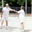 Stock Photo: Senior Sportsmanship - Racquetball