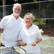 Tennis Senior Couple — Stock Photo