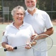 Senior Tennis Players — Stock Photo