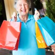 Senior Woman Shopper — Stock Photo #7322139