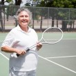 Senior Woman Tennis Player — Stock Photo