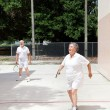 Seniors on Racquetball Court — Stock Photo