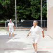 Stock Photo: Seniors on Racquetball Court