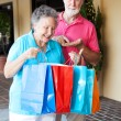 Shopping Seniors - Inflation — Stock Photo
