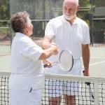 Tennis Seniors - Handshake — Stock Photo #7322168
