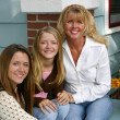 Beautiful Mother & Daughters — Stock Photo