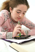 Student Doing Homework — Stockfoto