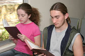 Teens In Church — Stock Photo