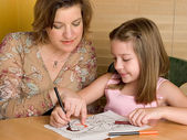 Mother Helping With Homework — Stock Photo