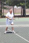 Active Senior Woman - Tennis — Stock Photo