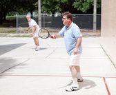 Men Playing Racquetball — Stock Photo