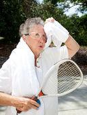 Senior Athlete Cools Off — Stock Photo