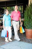 Shopping Seniors - Strolling — Stock Photo