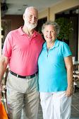 Shopping seniorer - porträtt — Stockfoto