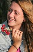 Beautiful Girl Amused — Stock Photo