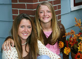 Lovely Sisters at Home — Stock Photo
