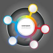 Vector graph color spectrum background — Stock Vector