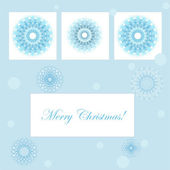 Vector christmas card with snowflakes and place for your text — Stock Vector