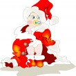 Baby Santa — Stock Vector