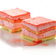 Stock Photo: Strawberry flavored layer cake