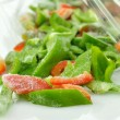 Frozen red and green sweet peppers — Stock Photo #6752981