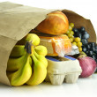 Paper bag with groceries — Stockfoto