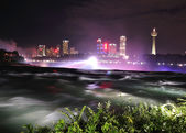 Niagara River in the night time — Stock Photo