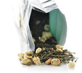 Green loose tea — Stock Photo