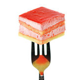 Strawberry flavored layer cake — Stock Photo