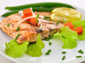 Grilled salmon fillet — Stock Photo