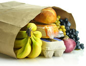 Paper bag with groceries — Stock Photo