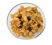 Bran and raisin cereal — Stock Photo