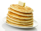 Pancakes with butter — Stock Photo