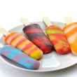 Colorful ice cream pops — Stock Photo #6769723