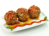 Meat balls with tomato sauce — Stock Photo