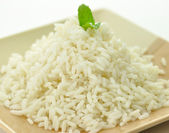 Arroz blanco cocido al vapor — Foto de Stock