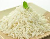 Arroz branco cozido no vapor — Foto Stock