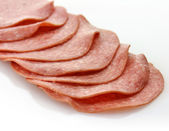 Sliced Salami — Stock Photo