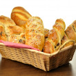 Bread assortment in a basket — Stock Photo #6780383